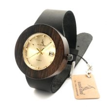 Calendar Display Dark Wooden Watch (2 Types)