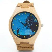 Night Deer Men's Wooden Watch